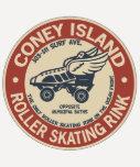 Pista del rodillo de Coney Island del vintage Camiseta