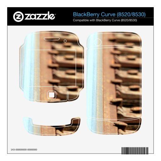 Pista del tren BlackBerry curve calcomanías