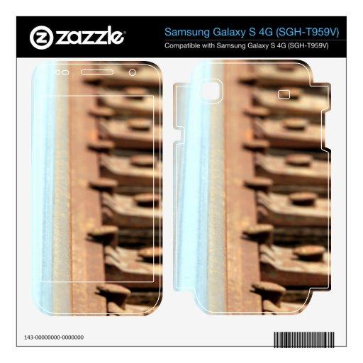 Pista del tren samsung galaxy s 4G calcomanía