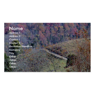 Pista hermosa en las montañas por completo del nar tarjetas de visita