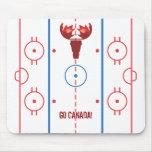 Pista Mousepad del hockey de los alces del arce Alfombrillas De Ratones