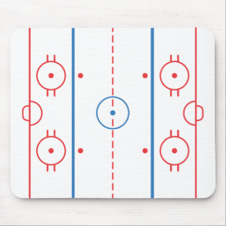 Pista Mousepad del hockey Tapete De Ratón