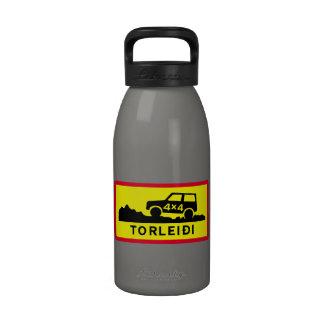 Pista muy áspera, señal de tráfico, Islandia Botellas De Agua Reutilizables
