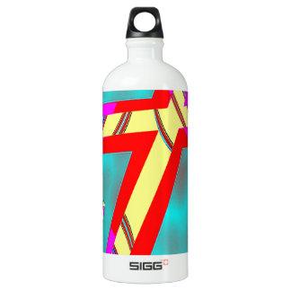 Pista para arriba botella de agua