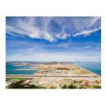 Pista y La Linea del aeropuerto de Gibraltar en Es Tarjeta Postal