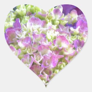 Pistachio Color Hydrangea Heart Sticker