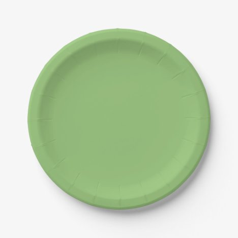 Pistachio-Colored Paper Plates
