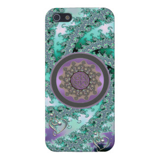 Pistachio Fractal Swirl with Celtic Mandala iPhone Case For iPhone 5/5S