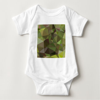 Pistachio Green Abstract Low Polygon Background Baby Bodysuit