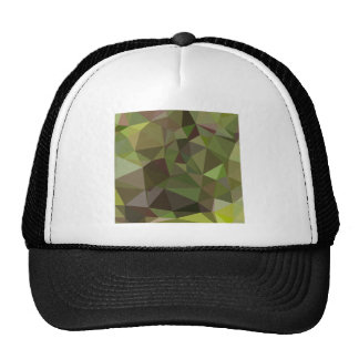 Pistachio Green Abstract Low Polygon Background Trucker Hat