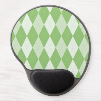 Pistachio Green Argyle Pale Green Small Diamond Sh Gel Mouse Pad