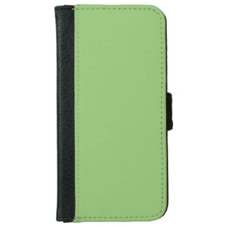 Pistachio Green Color Fresh Green Tea Background iPhone 6 Wallet Case