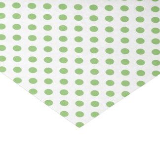 "Pistachio Green Polka Dots Circles 10"" X 15"" Tissue Paper"
