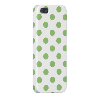 Pistachio Green Polka Dots Circles iPhone SE/5/5s Cover