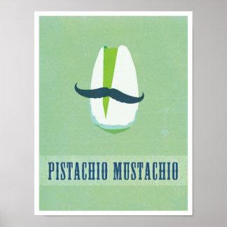 Pistachio Mustachio Poster