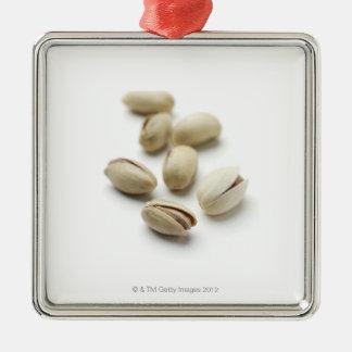 Pistachio nuts. metal ornament