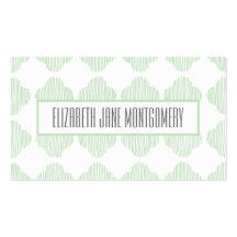 Pistachio Ogee Modern Appointment Business Card