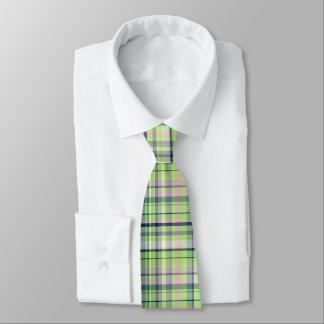 Pistachio Pink Navy Wht Preppy Madras Tie