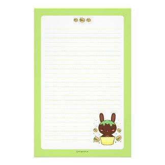 Pistachio Truffle Bunny Stationery