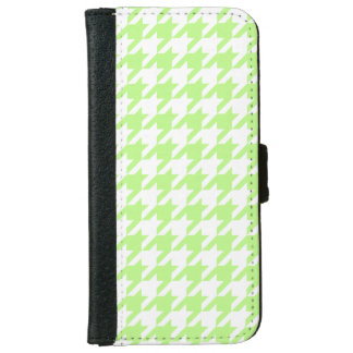 Pistachio White Houndstooth Pattern #2 iPhone 6 Wallet Case