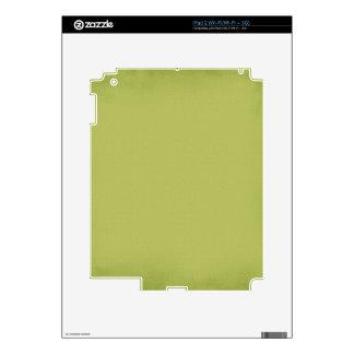 PISTACHIO YUMMY LIGHT MOSSY GREEN BEAUTY FASHIONA DECALS FOR iPad 2