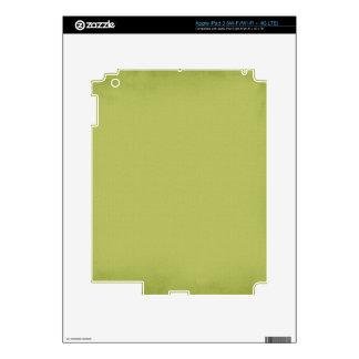 PISTACHIO YUMMY LIGHT MOSSY GREEN BEAUTY FASHIONA iPad 3 SKINS