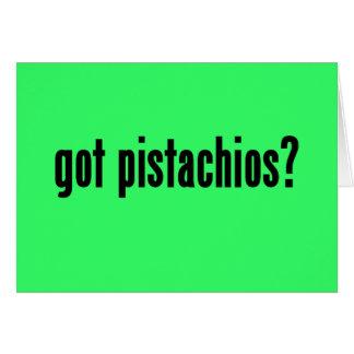 ¿pistachos conseguidos? tarjeta de felicitación