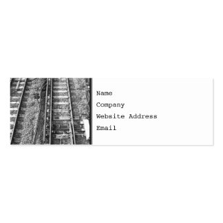 Pistas de ferrocarril, cuadro blanco y negro tarjeta de visita