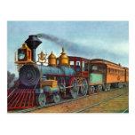 Pistas de ferrocarril del tren del vintage de la p postales