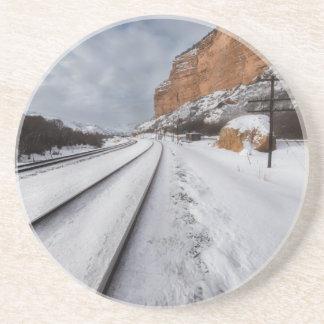 Pistas de ferrocarril en el valle posavasos personalizados