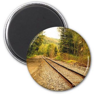 pistas de ferrocarril iman de nevera