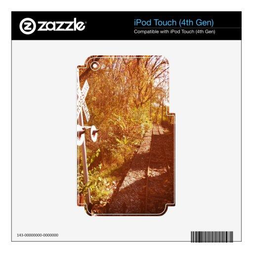 Pistas de ferrocarril iPod touch 4G skin