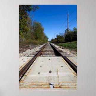 Pistas de ferrocarril póster