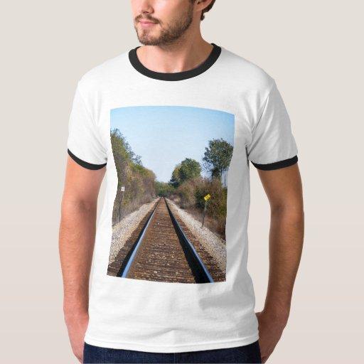 pistas de ferrocarril remeras