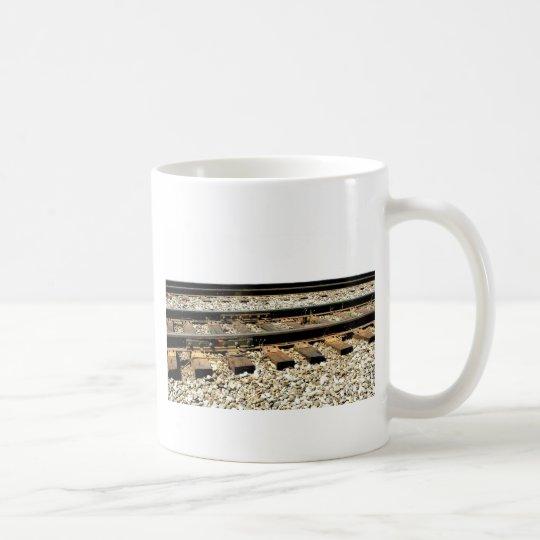Pistas de ferrocarril taza de café