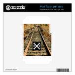 Pistas de ferrocarril y muestra del ferrocarril skins para iPod touch 4G