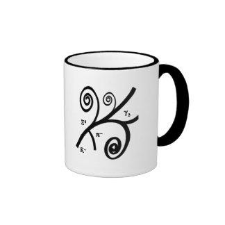 Pistas de la burbuja taza de café