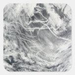Pistas de la nave en el Océano Pacífico Pegatina Cuadrada