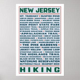 Pistas de senderismo de New Jersey Póster