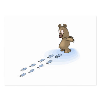 Pistas del oso tarjetas postales