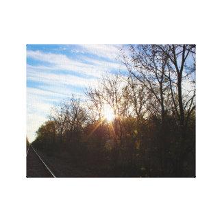 Pistas del resplandor solar impresión en lienzo