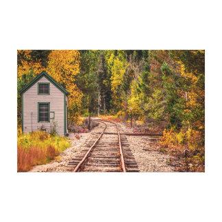 Pistas del tren de la muesca de Crawford Impresión En Lienzo