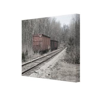 Pistas del tren impresión en lienzo