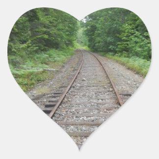 Pistas del tren colcomanias de corazon personalizadas