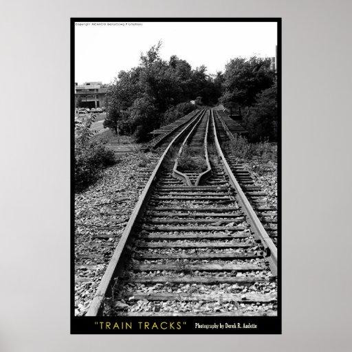 Pistas del tren póster