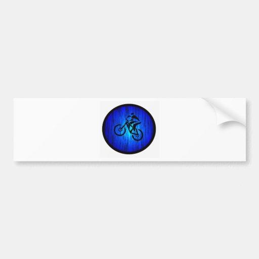 pistas distantes de la bici etiqueta de parachoque