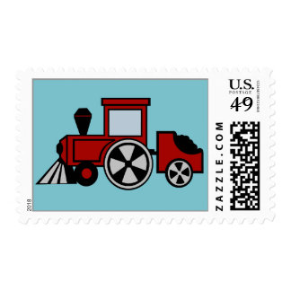 Pistas felices rojas timbres postales