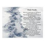 Pistas frescas de los regalos inspirados tarjeta postal