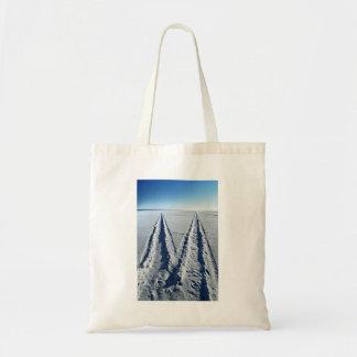 Pistas hivernales de la nieve bolsa tela barata
