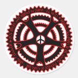 Pistas para bicicletas candentes en Utopía Etiquetas Redondas